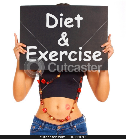 Diet And Exercise Sign Shows Weight Loss Advice stock photo - Download diet Royalty Free Images, Search for Free weight Photos