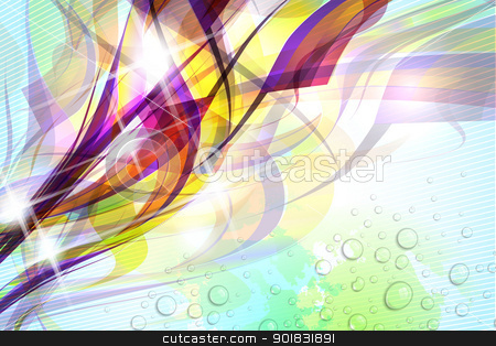 Abstract Colorful Background stock vector clipart, Abstract colorful flow on soft textured background. by Liviu Peicu