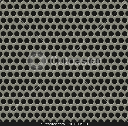 Seamless tiling metal grill pattern stock vector clipart, Illustration of perfectly seamlessly tiling metal grill pattern by Christos Georghiou