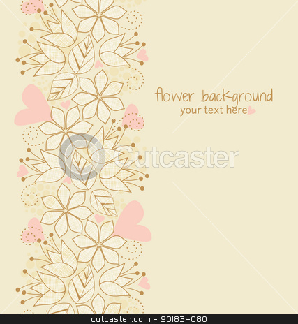 floral illustration stock vector clipart, Beautiful floral illustration on light brown background by Miroslava Hlavacova