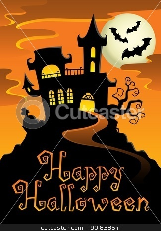 Happy Halloween topic image 1 stock vector clipart, Happy Halloween topic image 1 - vector illustration. by Klara Viskova