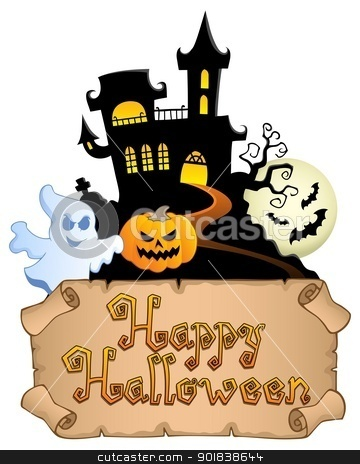 Happy Halloween topic image 4 stock vector clipart, Happy Halloween topic image 4 - vector illustration. by Klara Viskova