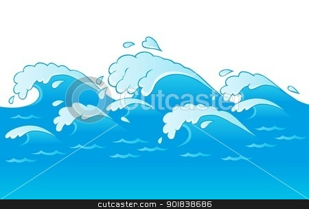 Waves theme image 3 stock vector clipart, Waves theme image 3 - vector illustration. by Klara Viskova