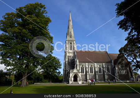 St. Alban's Church, Copenhagen stock photo, St. Alban's church in Copenhagen, Denmark. by Chris Dorney
