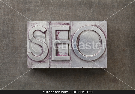 search engine optimization) -SEO stock photo, SEO (search engine optimization) acronym - text in vintage letterpress metal type against a grunge steel sheet by Marek Uliasz