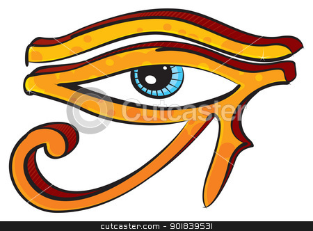 Eye of Horus stock vector clipart, Egyptians religion symbol created in graffiti style by Oxygen64