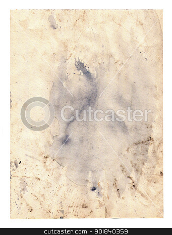 paper with blobs stock photo, Old grunge paper with blobs by Siloto