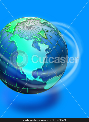 World. stock photo, World Spinning. by WScott