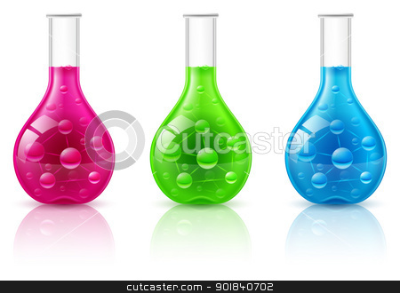 Test tube stock photo, Test tube set on a white background. Illustration for design by dvarg