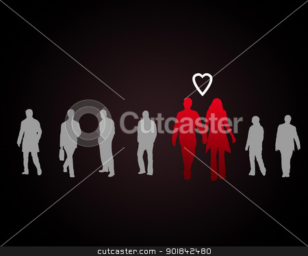 Couple in love stock photo, Couple in love -man and woman with together by Sergey Nivens
