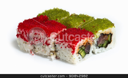 Various kinds of sushi and sashimi stock photo, Various kinds of sushi and sashimi by Evgeniy Ovchinnikov