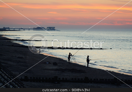 sun set stock photo, sun set over the beach by lizapixels