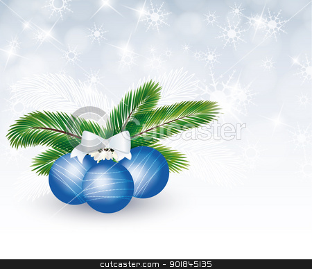 Christmas background stock vector clipart, Christmas decorations in the background flasks by Miroslava Hlavacova