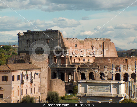 The Coliseum - Rome, Italy stock photo, The Coliseum in Rome, Italy. by Click Images