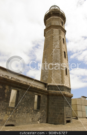 Volcano dos Capelinhos Lighthouse stock photo, Lighthouse at Volcano dos Capelinhos, Faial island, Azores by dinozzaver