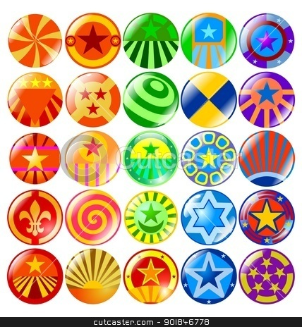 textured buttons stock vector clipart, The set of the colored textured buttons by Oleksandr Kovalenko