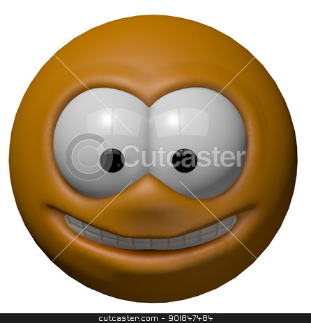 smiley stock photo, happy cartoon smiley - 3d illustration by J?
