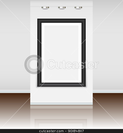 Pre-made virtual art gallery stock vector clipart, Pre-made virtual art gallery with a big frame just to instal a picture by Vladimir Repka