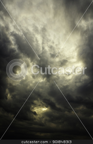 Dramatic sky stock photo, Dramatic sky background with clouds by Vladimir Gladcov