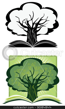 Knowledge Tree stock vector clipart, Illustration as a concept of a growing knowlege by Vanda Grigorovic