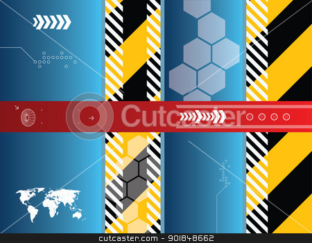 technology background vector stock vector clipart, abstract background vector graphics created with technology by Aurelio Scetta