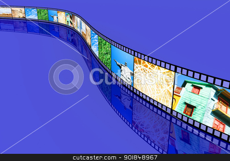 Film stock photo, A Photo film. 3D rendered Illustration.  by Michael Osterrieder