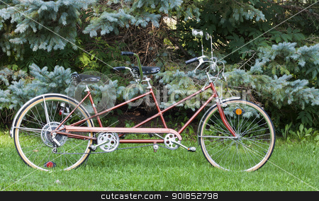 tandem bicycle stock photo, vintage bicycle built for two for fun and recreation by digitalreflections