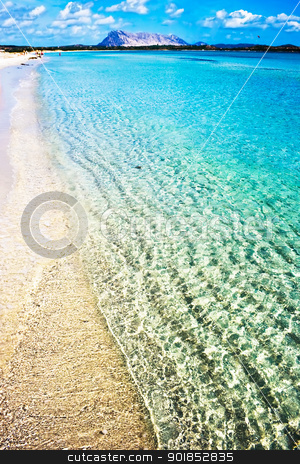 Cinta beach stock photo, Sandy beach Cinta near San-Teodoro, Sardinia, Italy by Alexey Popov