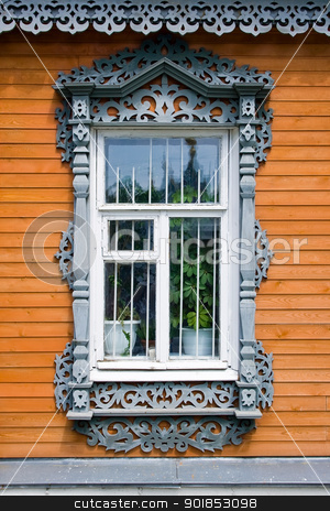 Traditional russian window stock photo, Traditional russian window from Suzdal by Alexey Popov