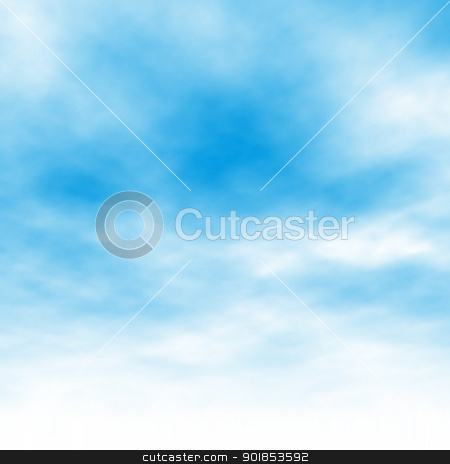 Cloud background stock vector clipart, Editable vector illustration of light clouds in a blue sky made using a gradient mesh by Robert Adrian Hillman