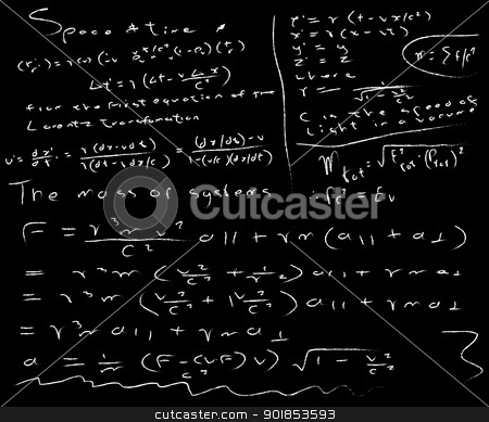 Untidy Chalk Board stock vector clipart, A vary untidy school blackboard with barely legible handwriting. by Kotto