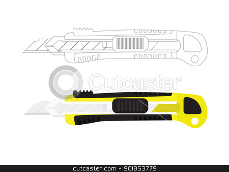 Box Cutter Knife Stock Vector