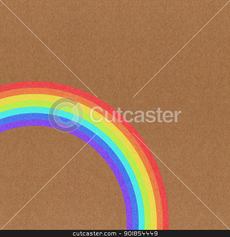 Rainbow grunge  paper texture on brown background stock photo, Rainbow grunge  paper texture on brown background by jakgree