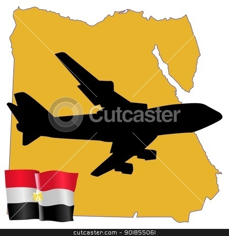 fly me to the Egypt stock vector clipart, fly me to the Egypt by Oleksandr Kovalenko