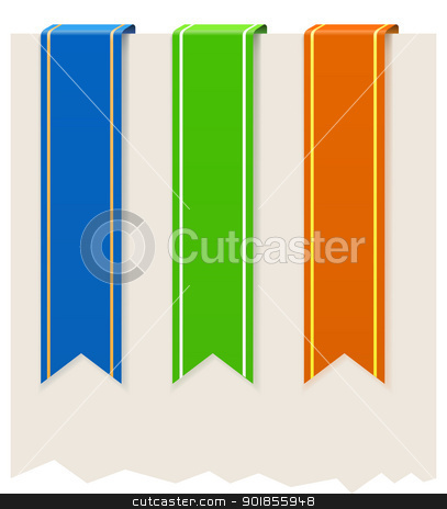 Three flags stock vector clipart, Three flags. Vector illustration. by vtorous