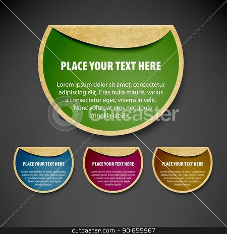 Retro labels. stock vector clipart, Speech bubbles set. Vector illustration Eps 10.  by vtorous