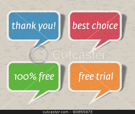 Speech bubbles. stock vector clipart, Speech bubbles set. Vector illustration Eps 10.  by vtorous