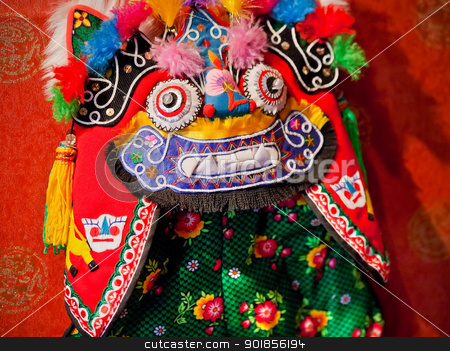 Chinese Colorful Souvenir Puppet Dragon Beijing, China stock photo, Chinese Colorful Souvenir Puppet Dragon Beijing, China by William Perry
