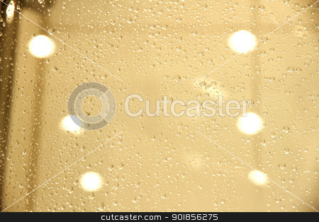 Water drops stock photo, Water  drops on a glass background. by Michael Osterrieder