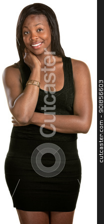 Happy Woman stock photo, Happy young Black woman over isolated background by Scott Griessel