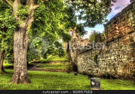 chester walls, hdr image stock photo, chester walls, hdr image by bubu45