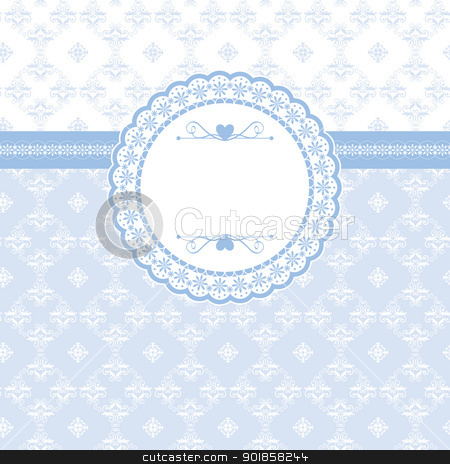 Greeting card with vintage elements stock vector clipart, Greeting card with vintage elements seamless background by meikis