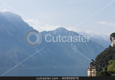 Lake Garda stock photo, View of the Lake Garda in Italy by Anne-Louise Quarfoth