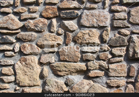 Stone Wall stock photo, Stone Wall by Darren Pullman