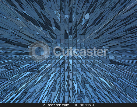 Blue explosion stock photo, Very blue and bright explosion in the space by Alexander Matvienko