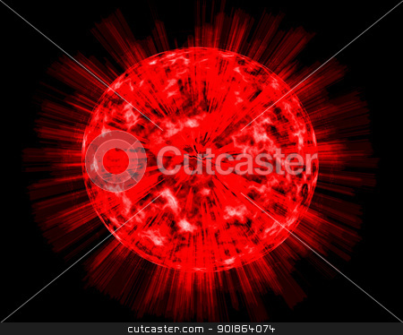 Explosion on the planet stock photo, Explosion on the planet by Alexander Matvienko