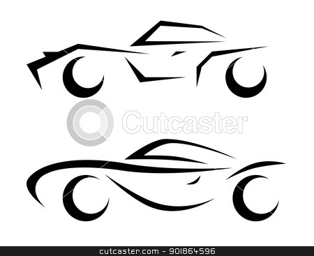 car model sketch stock photo, car sketch abstract illustration  by Ioan Panaite