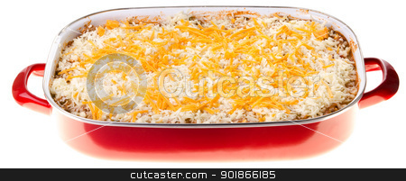 Lasagna  stock photo, A dish of uncooked lasagna isolated against a white background. by Richard Nelson