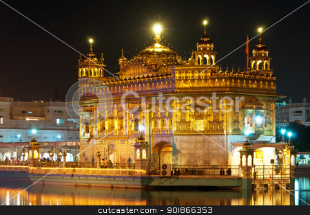 Golden Temple in Amritsar, India stock photo, Golden Temple of Darbar Sahib, the spiritual and cultural center of the Sikh religion, India by Iryna Rasko