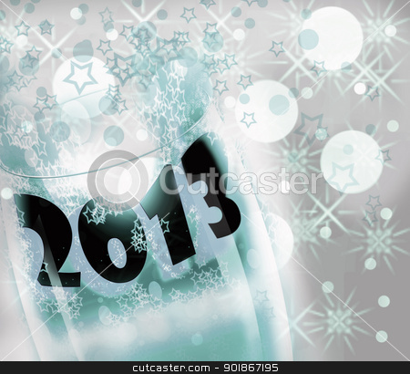 2013 new year  stock photo, Cup 2013 in the celebrations by graciela rossi